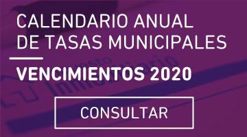 calendario de vencimiento de Tasas 2020 (ABRIR)
